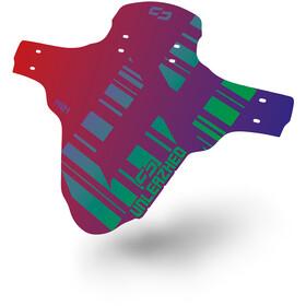 "UNLEAZHED Unsplash M01 Front Mudguard 26-29"" incl. 4 Cable Ties flip flop red-blue/green-violett"
